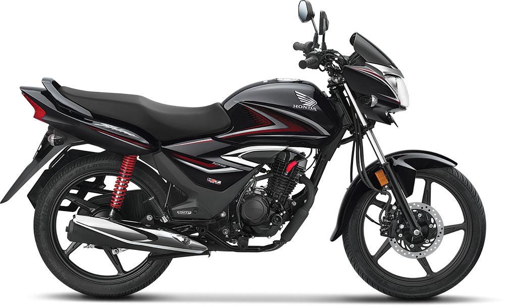 New Honda Shine 2021 in Black color option.