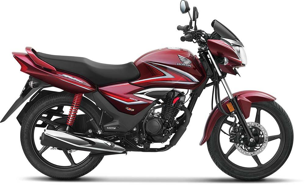 2021 Honda Shine Red Color - Rebel Red Metallic