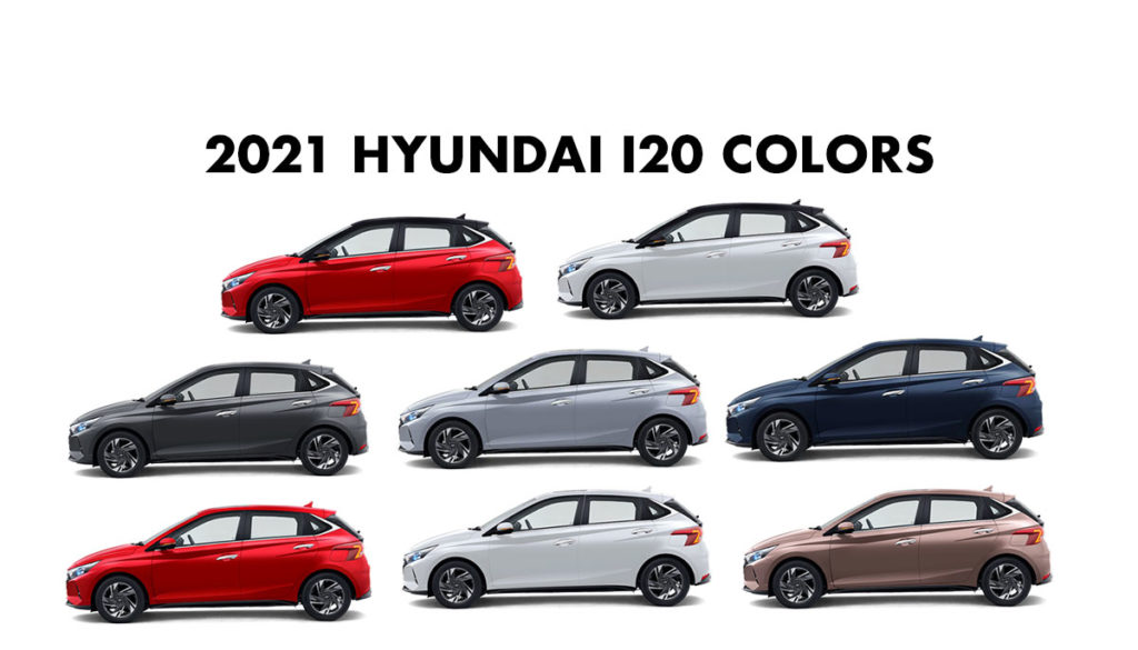 New Hyundai i20 Colors - All Hyundai i20 Color options 2021 Model