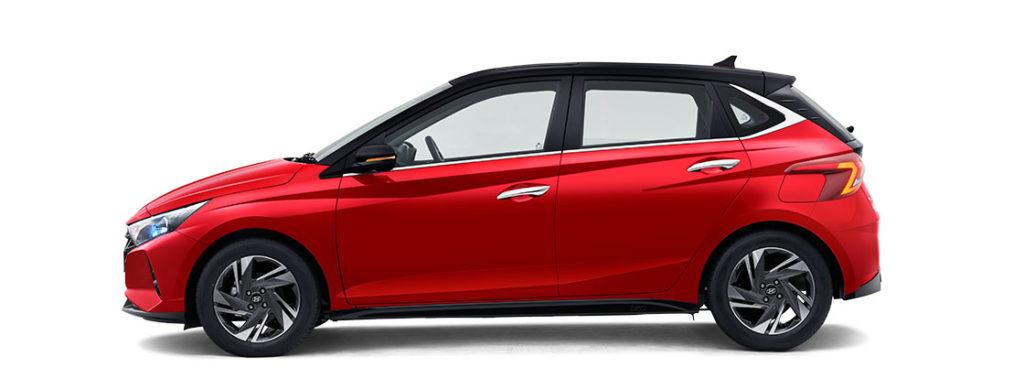 2021 Hyundai i20 Red and Black Dual tone color option
