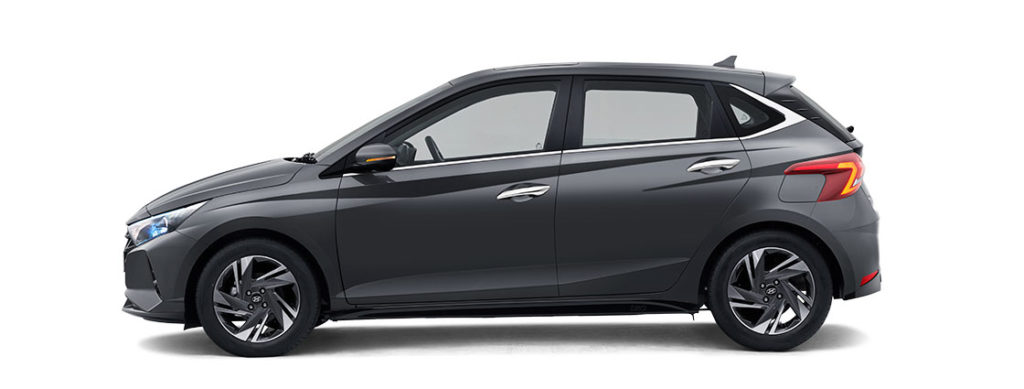 2021 Hyundai i20 Grey Color option -  2021 Hyundai i20 Titan Grey Color