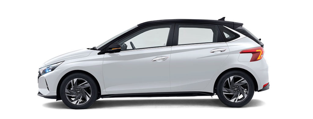 2021 Hyundai i20 White and Black Color option - Dual tone color options