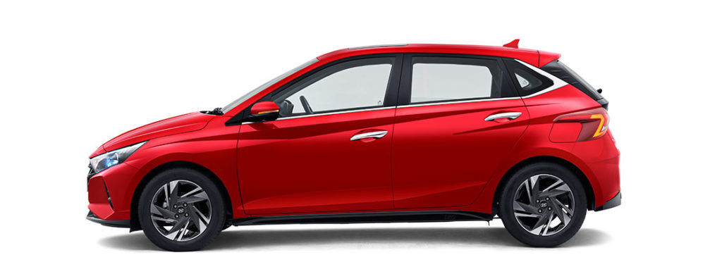 2021 Hyundai i20 Red Color - Fiery Red Color variant