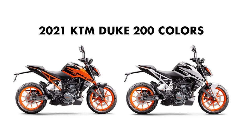 2021 model KTM Duke 200 Colors - 2021 KTM Duke 200 All Colors