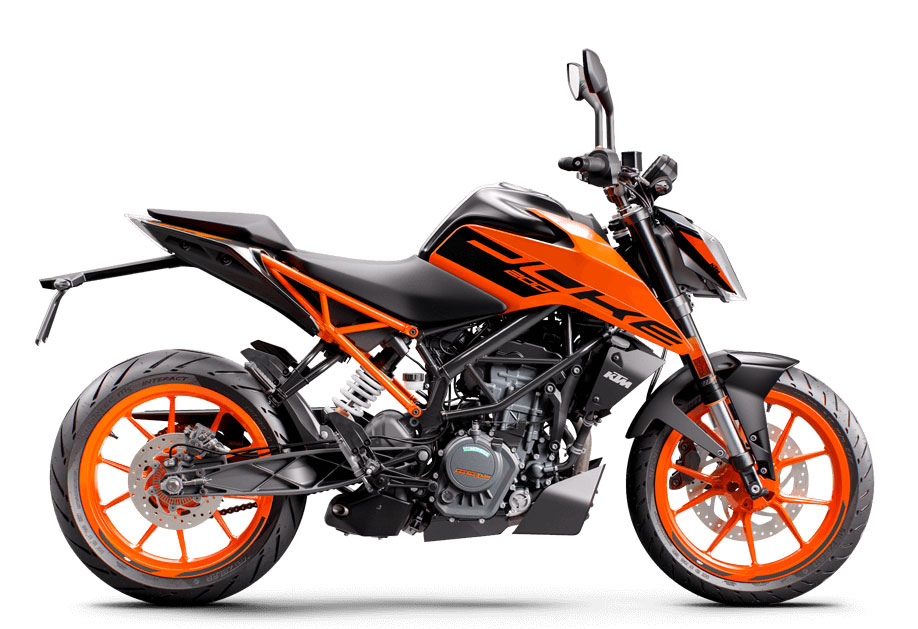 2021 KTM Duke 200 Electric Orange Color option - New 2021 Duke 200 Orange Color