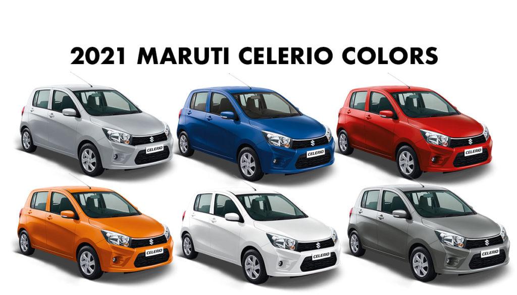 All Colors of 2021 Maruti Celerio