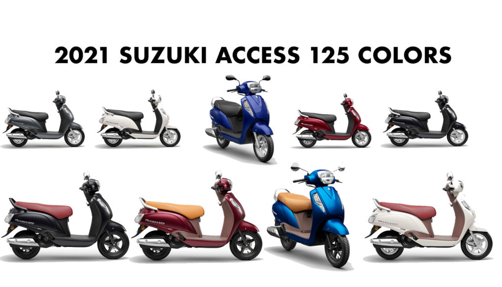 2021 Suzuki Access 125 Colors All Colors with Special Edition Colors Access 125