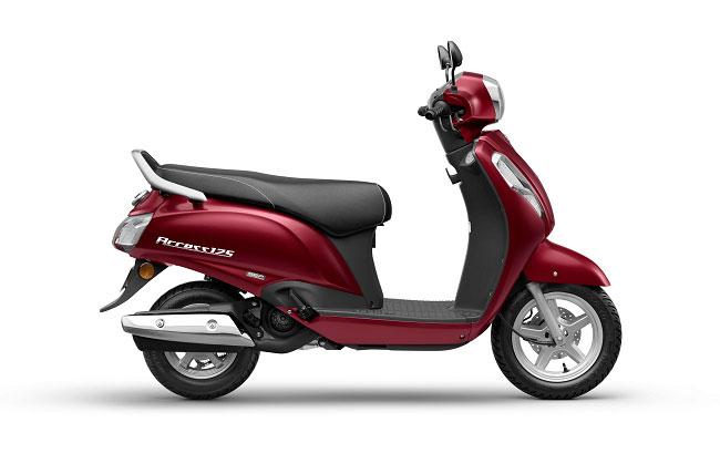 2021 Suzuki Access 125 Red Color Metallic Matte Bordeaux Red