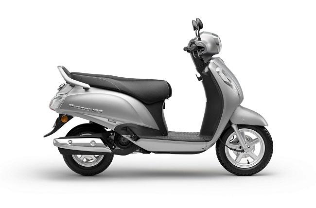 2021 Suzuki Access 125 Silver Color Metallic Matte Platinum Silver