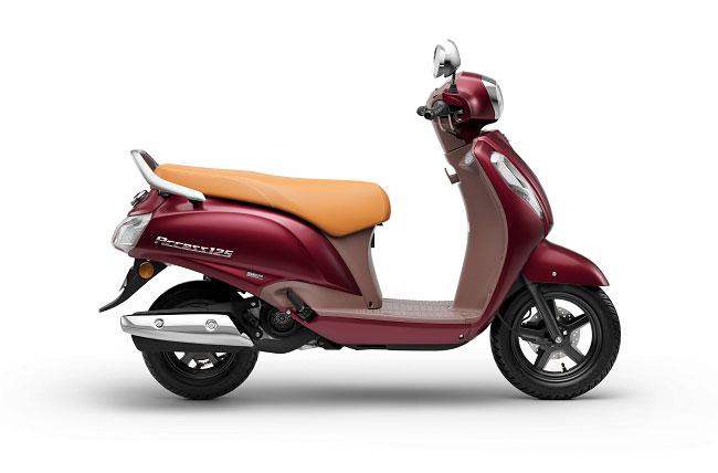 2021 Suzuki Access 125 Red Color Special Edition Metallic Matte Bordeaux Red