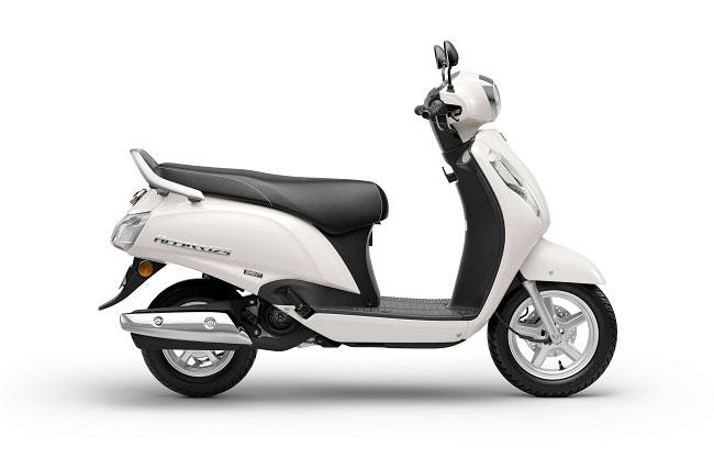 2021 Suzuki Access 125 White Color Pearl Mirage White