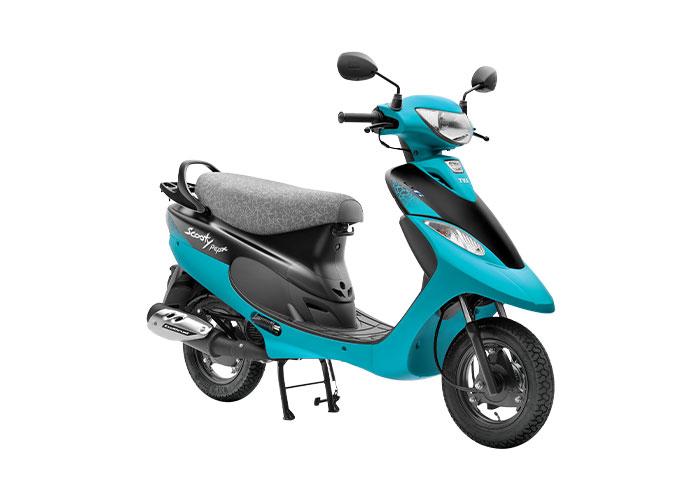 2021 TVS Scooty Pep+ Aqua Color (Aqua Matte)