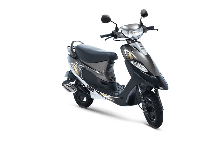 2021 TVS Scooty Pep+ Black Color (Frosted Black)