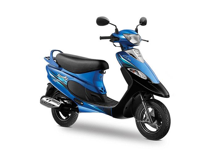 2021 TVS Scooty Pep+ Blue Color (Nero Blue)