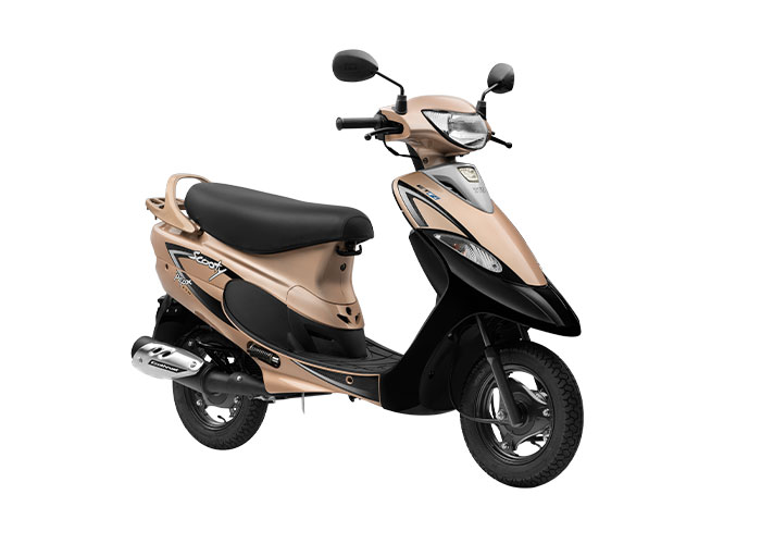 2021 TVS Scooty Pep+ Gold Color (Glittery Gold)
