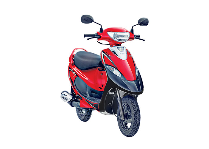 2021 TVS Scooty Pep+ Red Color (Revving Red)