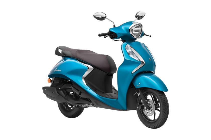 2021 Yamaha Fascino Blue Color Cyan Blue