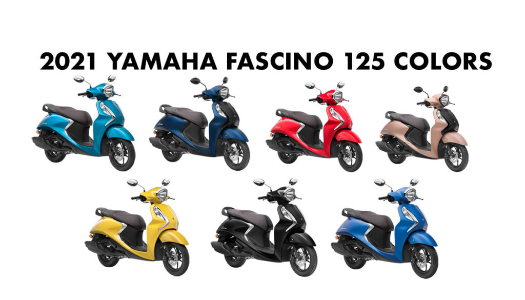2021 Yamaha Fascino 125 Colors - New Fascino 125 All Color options