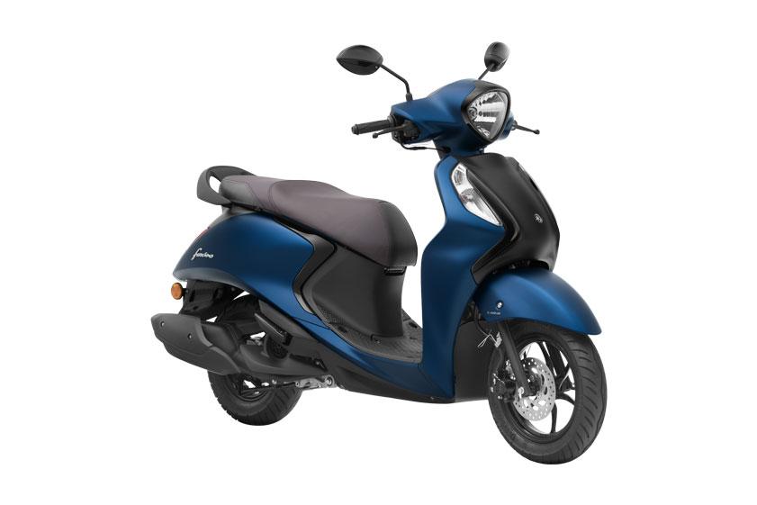 2021 Yamaha Fascino Blue and Black Color - Dark Matt Blue