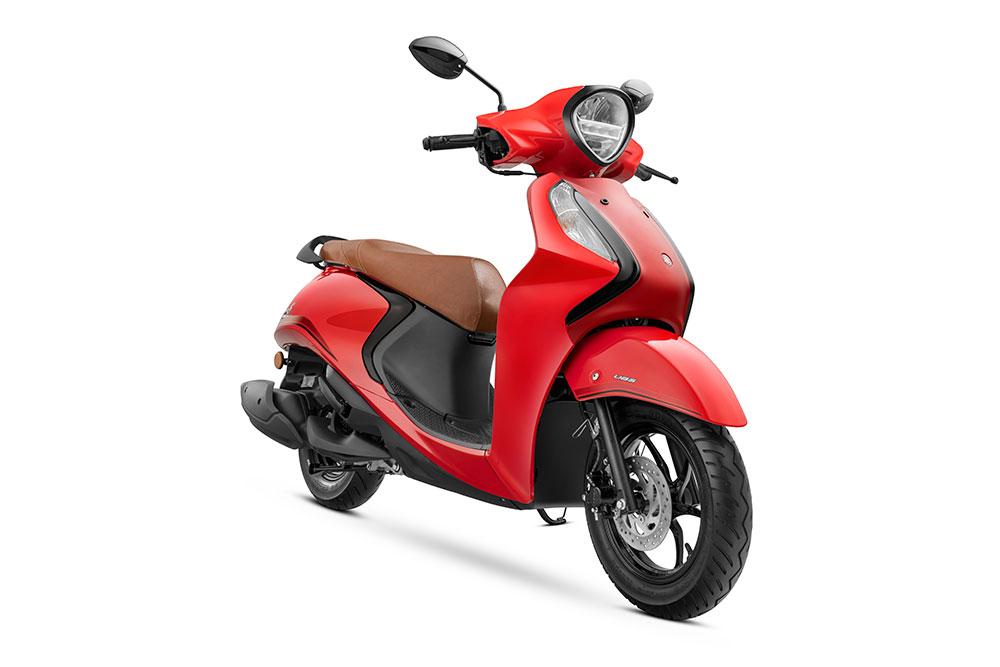 2021 Yamaha Fascino 125 Hybrid Red Color