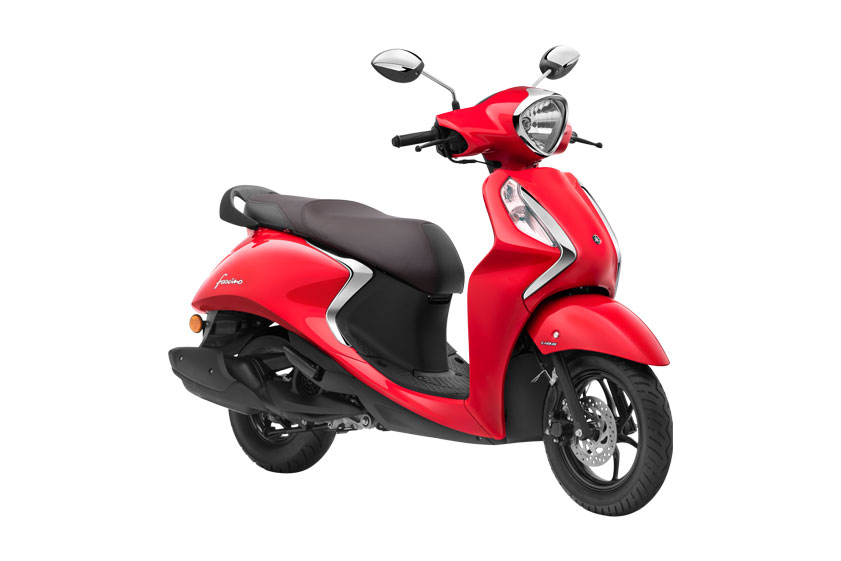 2021 Yamaha Fascino Red Color Vivid Red