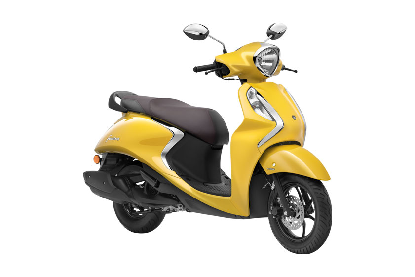 2021 Yamaha Fascino Yellow Color - Yellow Cocktail