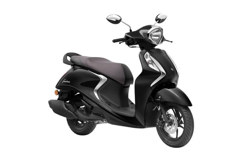 2021 Yamaha Fascino Black Color Metallic Black color
