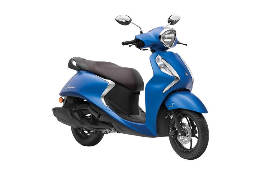 2021 Yamaha Fascino Blue Color - Matt Blue