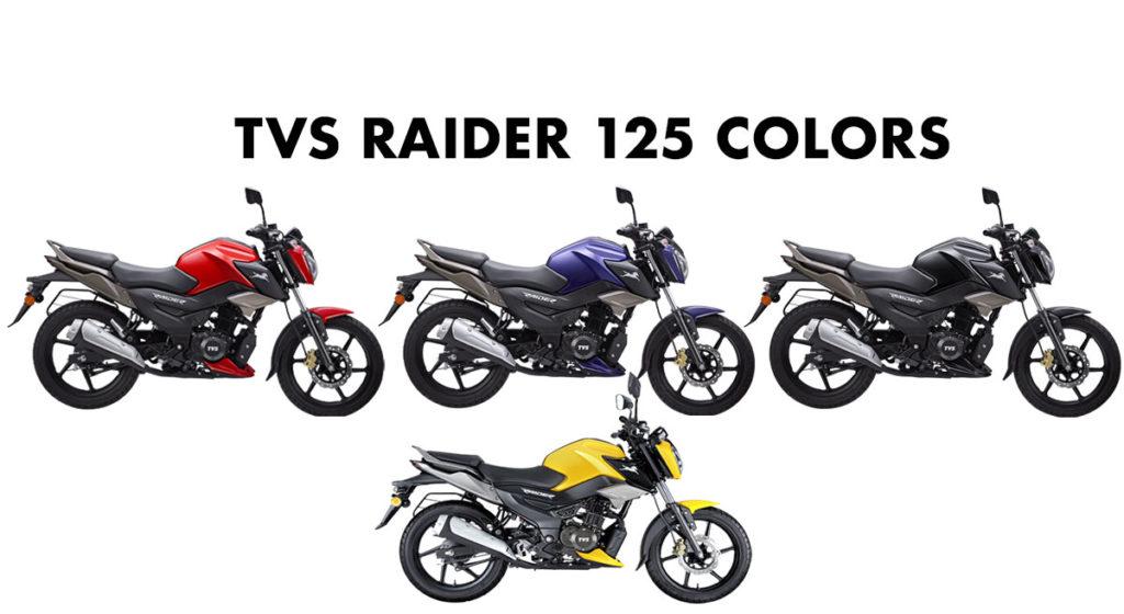 TVS Raider All Colors - TVS Raider 125 All Color options - New TVS Raider 125 Colors