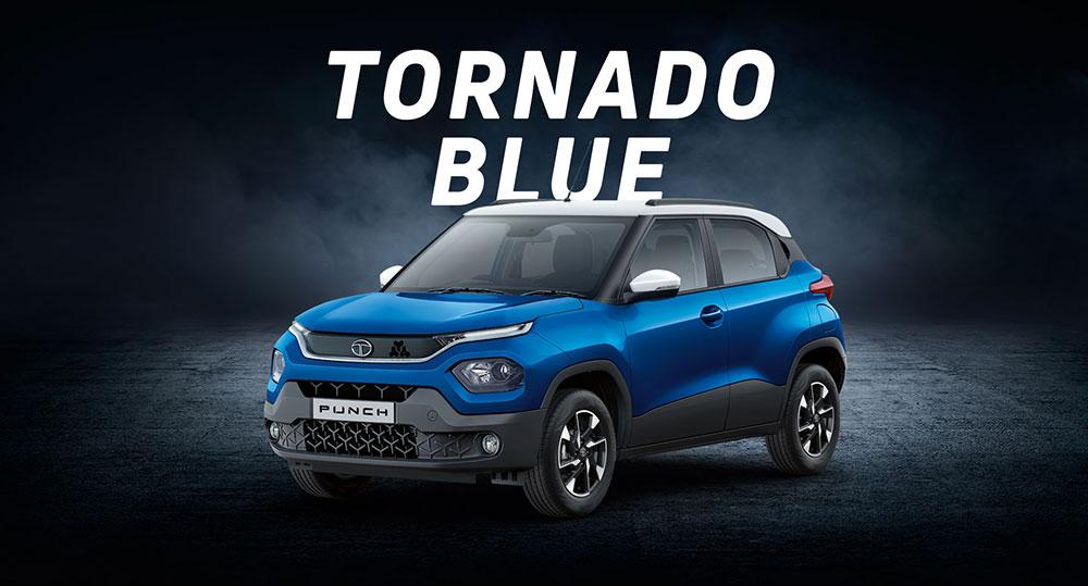 Tata PUNCH Blue color Tornado Blue color