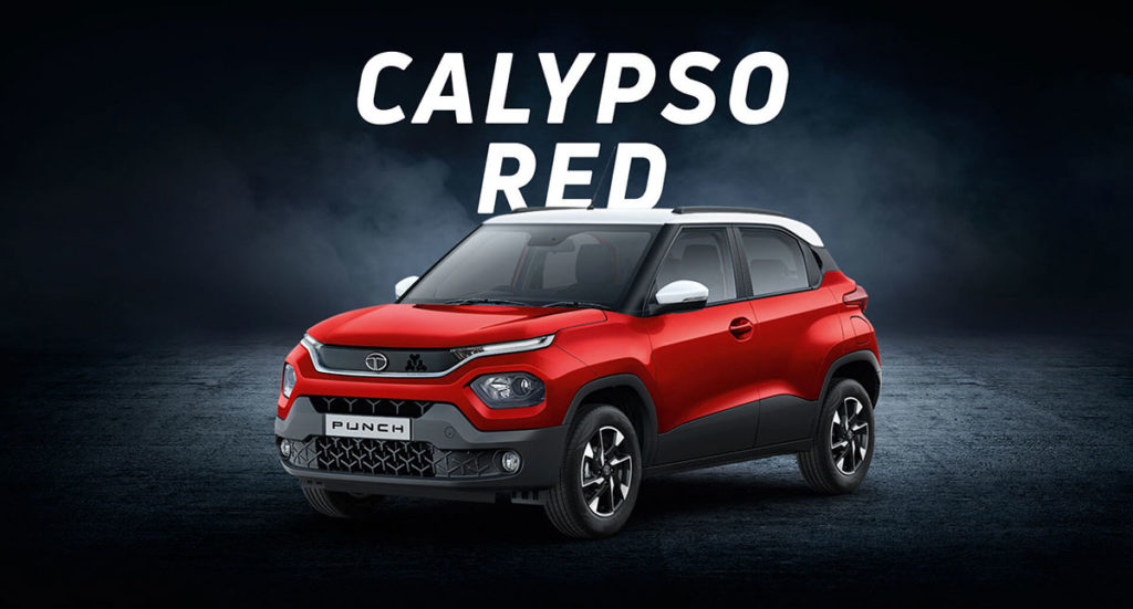 Tata PUNCH Red Color - Calypso Red Color