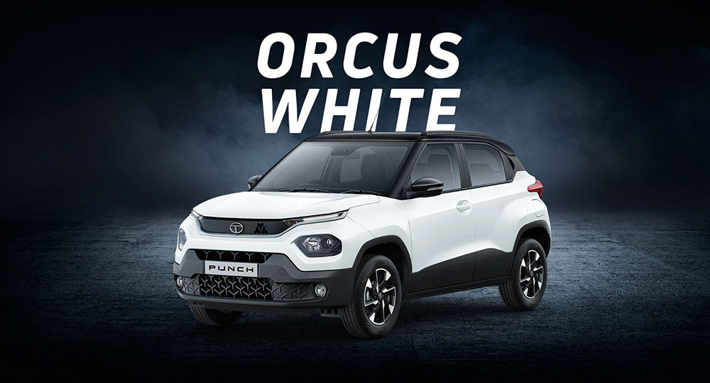 Tata PUNCH White Color - Orcus White Color