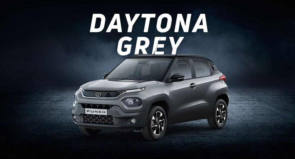 Tata PUNCH Grey. Color option - Daytona Grey color