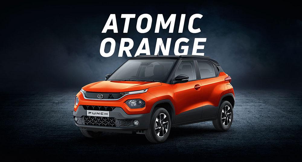 Tata PUNCH Orange Color - Atomic Orange color